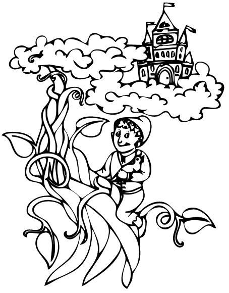 Jack And The Beanstalk Coloring Page Coloring Pages