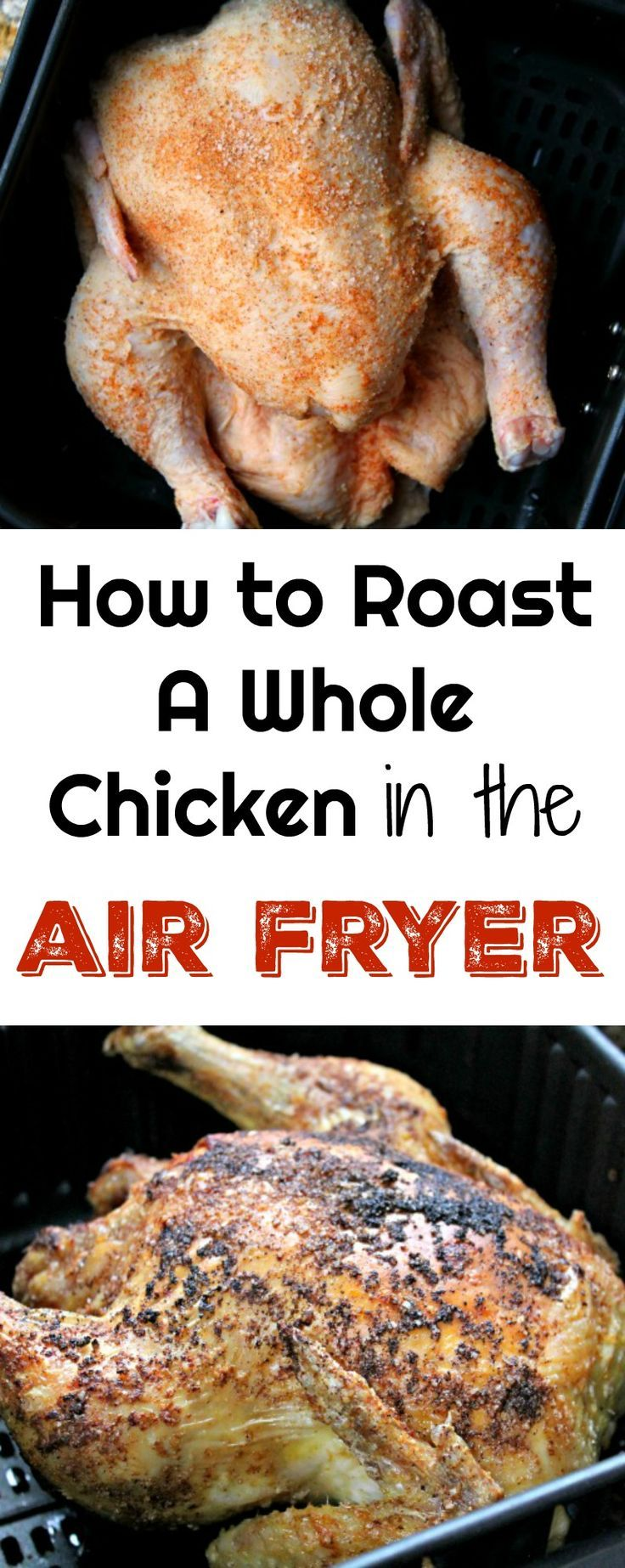 Whole Roasted Chicken in the Air Fryer Recipe Stuffed