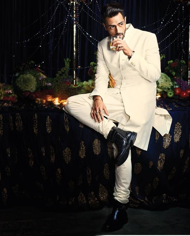 Arjun Rampal in Rohit Bal's creation for his silver jubilee celebration in…