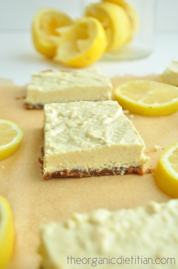 Healthy lemon bars that are raw, vegan paleo, gluten free, grain free and still delicious, sweet and tart. No sugar, no flour, no artificial ingredients.