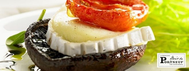 Zeste | Portobello rôtis et Paillot de chèvre
