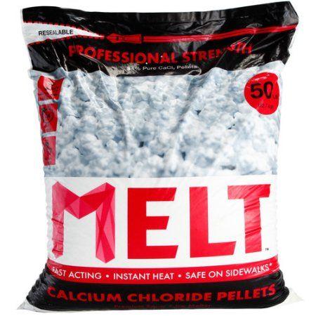 Snow Joe Melt Calcium Chloride Pellets Ice Melter (50 lb. Resealable Bag) – MELT50CCP, Beige