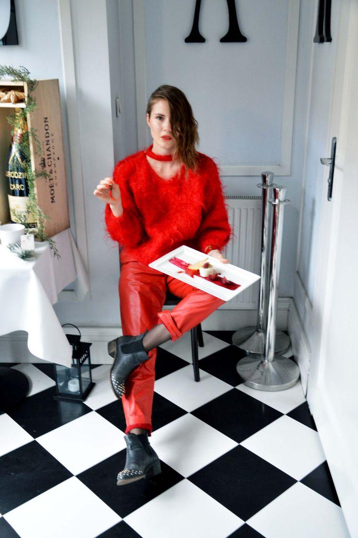In Red/Fashion & Food/ Larc restaurant Warsaw