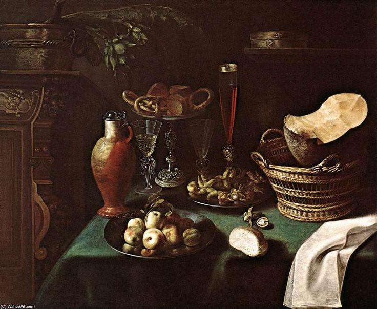 'grande nature morte', huile sur toile de Sébastien Stoskopff (1597-1657, France)