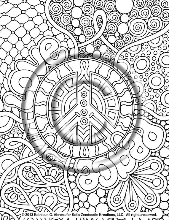 coloring pages peace love - photo#8