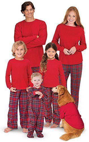 PajamaGram Family Christmas Pajamas Set - Soft Stewart Plaid Red Toddler 5T   fashion  clothing  shoes  accessories  womensclothing  intimatessleep  (ebay ... 71d103806
