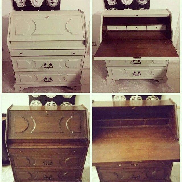 Prima e dopo @casafacile  #casafacile #DIY #restylingvecchioscrittoio #homecarlá #primaedopo