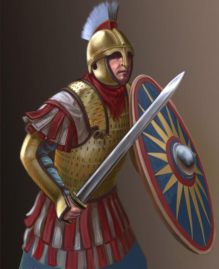 V century roman warrior by Simulyaton.deviantart.com on @DeviantArt
