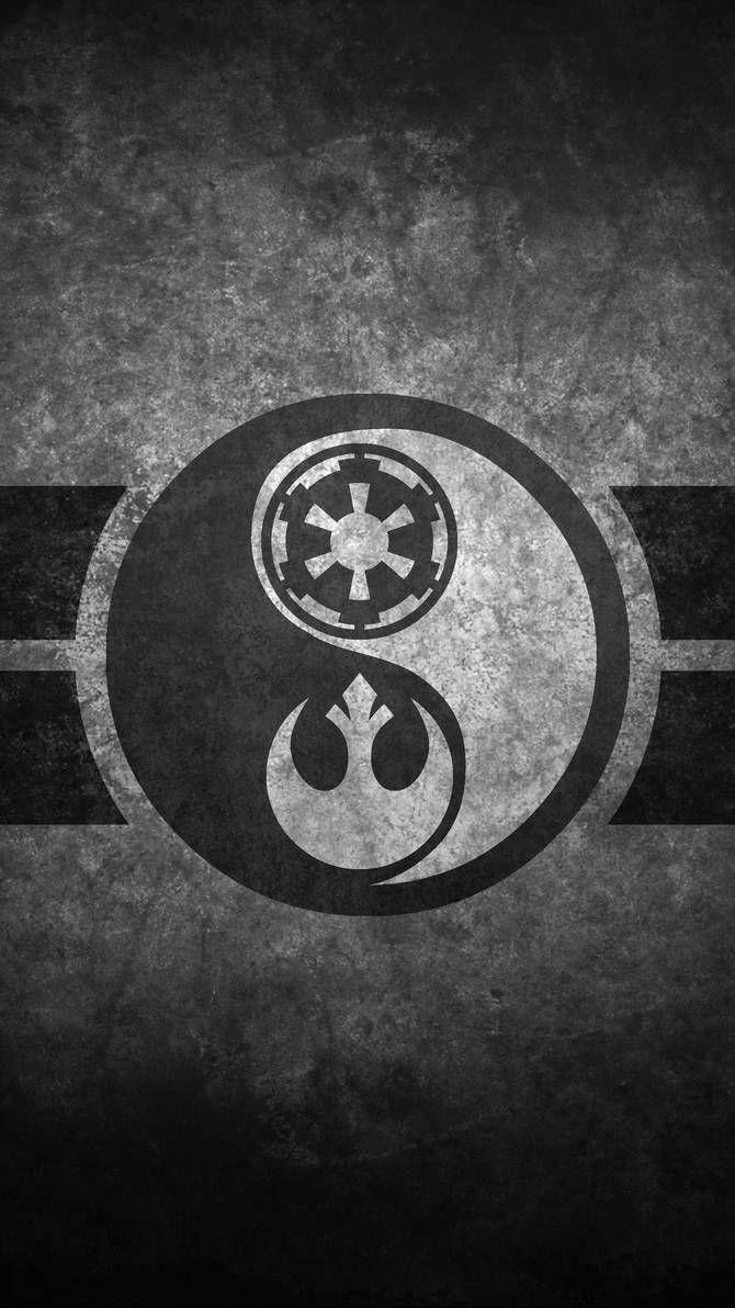 Star Wars Yin Yang Cellphone Wallpaper by swmand4 #starwarstattoo | Star  wars background, Star wars artwork, Star wars art