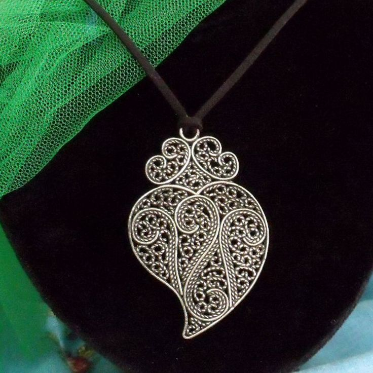 21 best tattoo images on pinterest tattoo ideas inspiration portugal folk viana heart silver tone filigree necklace big pendant jewelry aloadofball Images