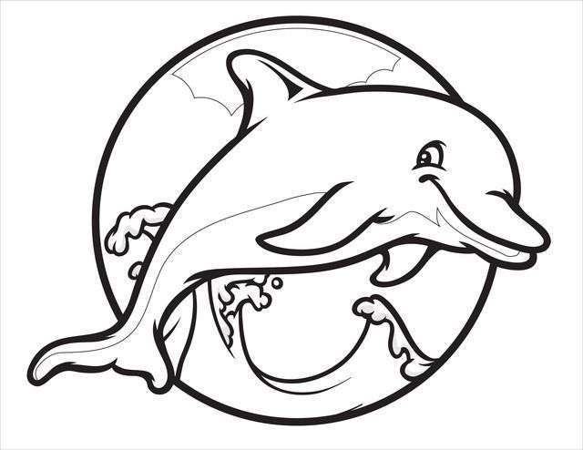Easy Dolphin Coloring Pages Ideas Dolphin Coloring Pages Cartoon Coloring Pages Animal Coloring Pages