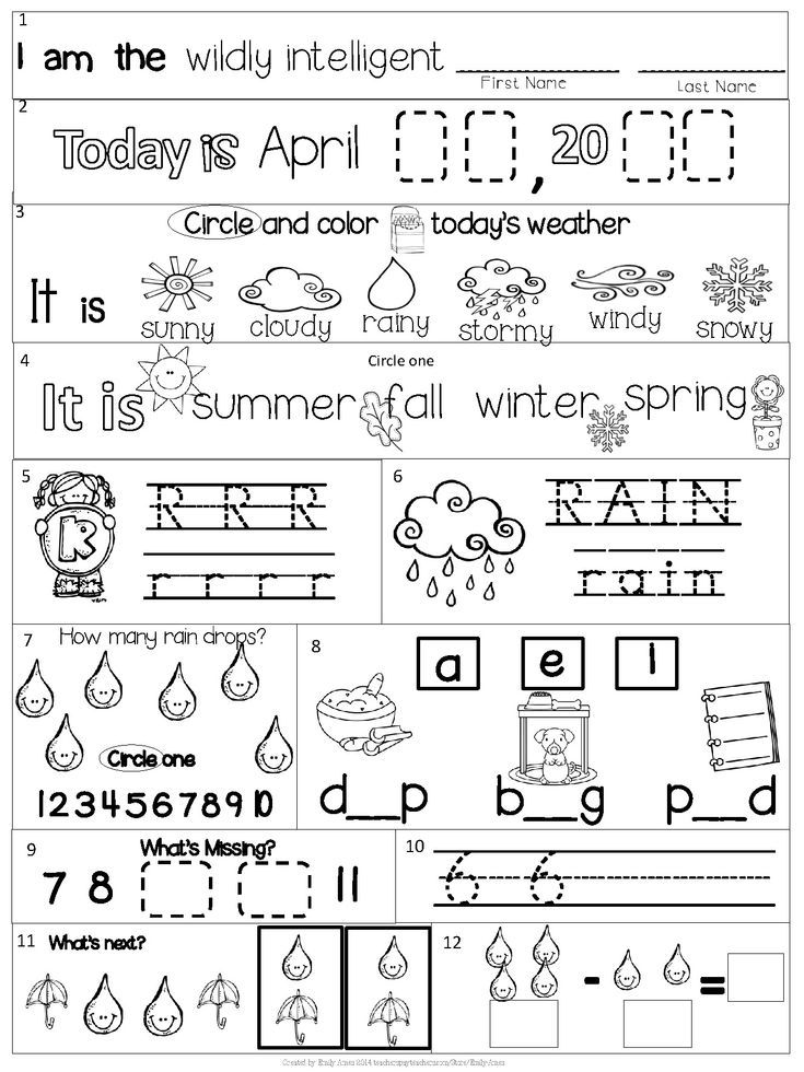 Morning Work Kindergarten Packet For April Common Core Differentiated Spring In 2020 Kindergarten Morning Work March Kindergarten Common Core Math Kindergarten