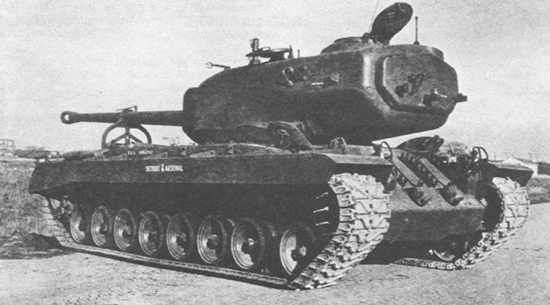T29 Heavy Tank during tests in Aberdeen - clearly visible additional 4 inch plate on rear of turret