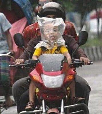 Foto-foto lucu bikers di Indonesia