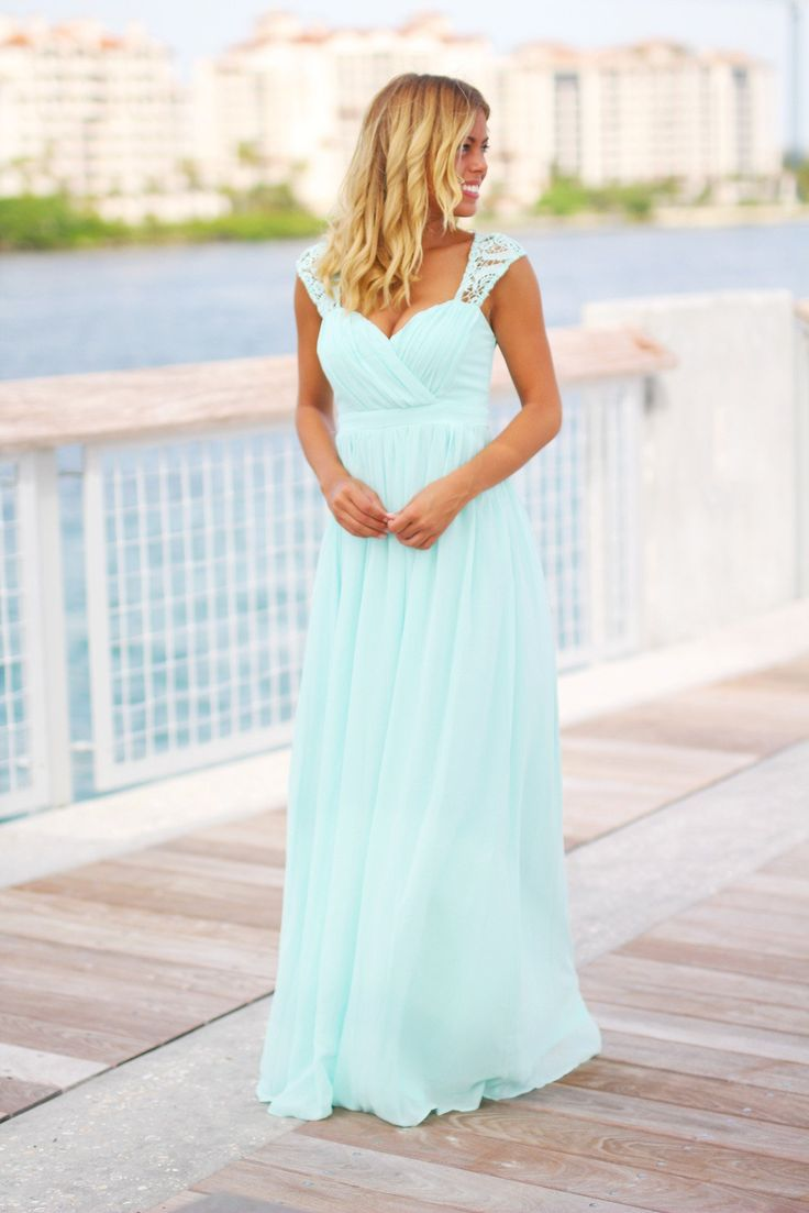 We've falling head over feels in love with this beautiful new Mint Bridesmaid Maxi Dress! Don't miss out on this elegant dress! Such a pretty bridesmaid dress or dress for any special occasion! - 100%