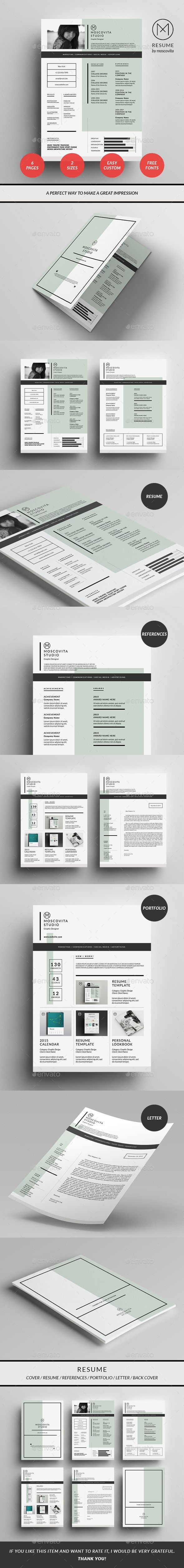 Resume by moscovita The Resume Template combines simplicity and style providing a professional finish and a great visual impact. Highlight the most am