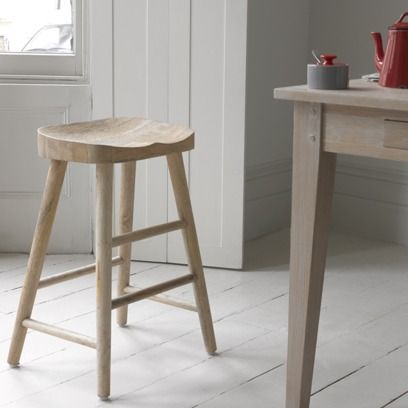 BLAST STOOL This rather timeless stool is perfect for loitering in the kitchen or office. Made of solid mango it is then sand-blasted to give it a lived-in feel. Exceptionally comfy. #kitchen
