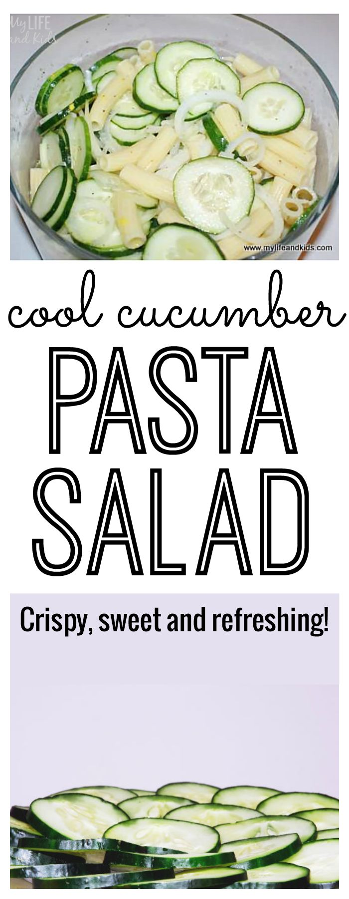 Cucumber Pasta Salad - YUM! Everyone begs me for this recipe! The perfect side to bring to a picnic or serve to your guests. Caution - you will become addicted!
