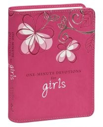 GIFT BOOK: ONE-MINUTE DEVOTIONS FOR GIRLS Full-colour insides 366 devotions Ribbon marker 400 pages. Available @ Faith4u Book and GIFT shop, Secunda. South Africa. Phone (017 34 7833 x 3) or email [faith4u@kruik.co.za] us to find out if we have stock in store. We can also place orders. Shalom Tilly and Odette