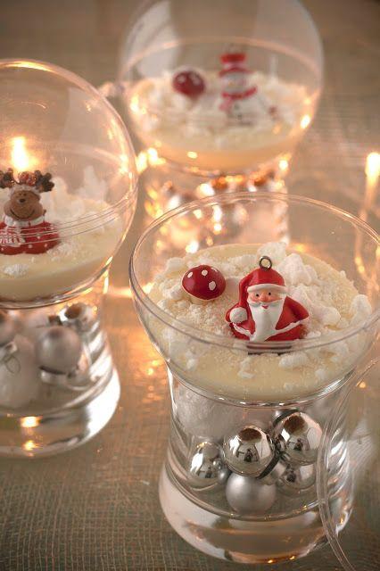 Gevulde kerstbal met gekaramelliseerde peer, speculaascrumble en witte chocolademousse