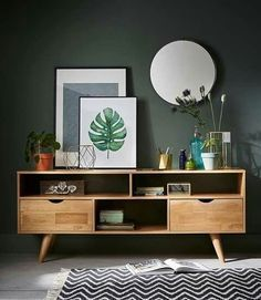 Learn how to use mid-century modern credenzas in your living room, dining room, and even bedroom! | www.essentialhome.eu/blog