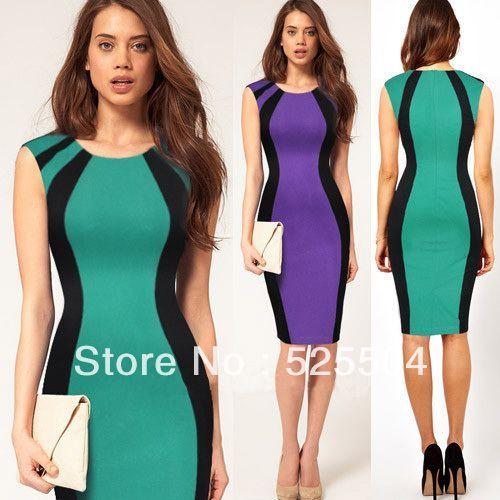 Платья облегающее, женщины элегантный оптические тюль для похудения простирание бизнес карандаш коктейльный купить на AliExpress