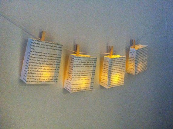 book page lanterns