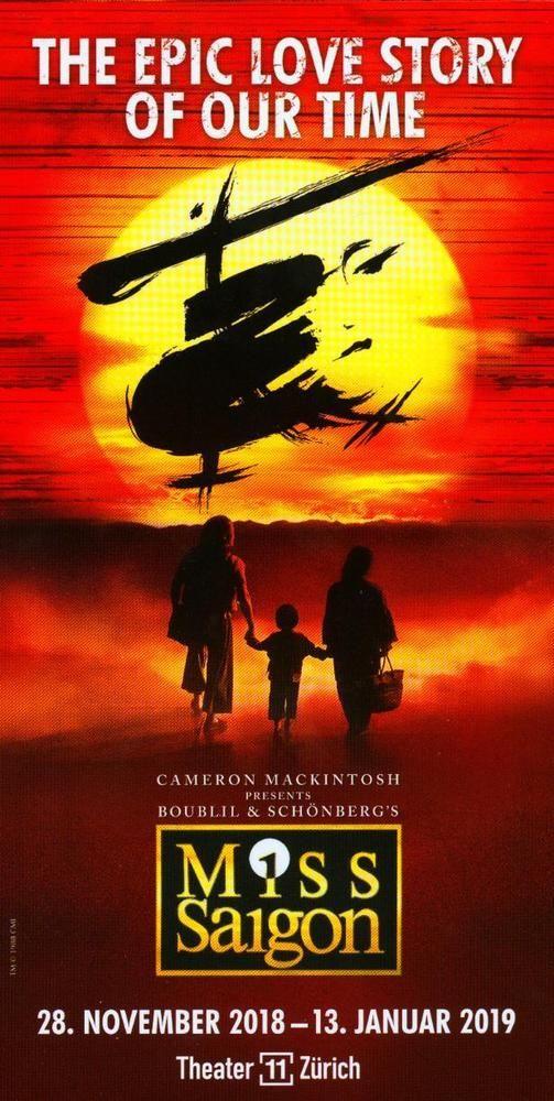 MISS SAIGON -  2018 - ORIGINAL MUSICAL FLYER - KEIN TICKET