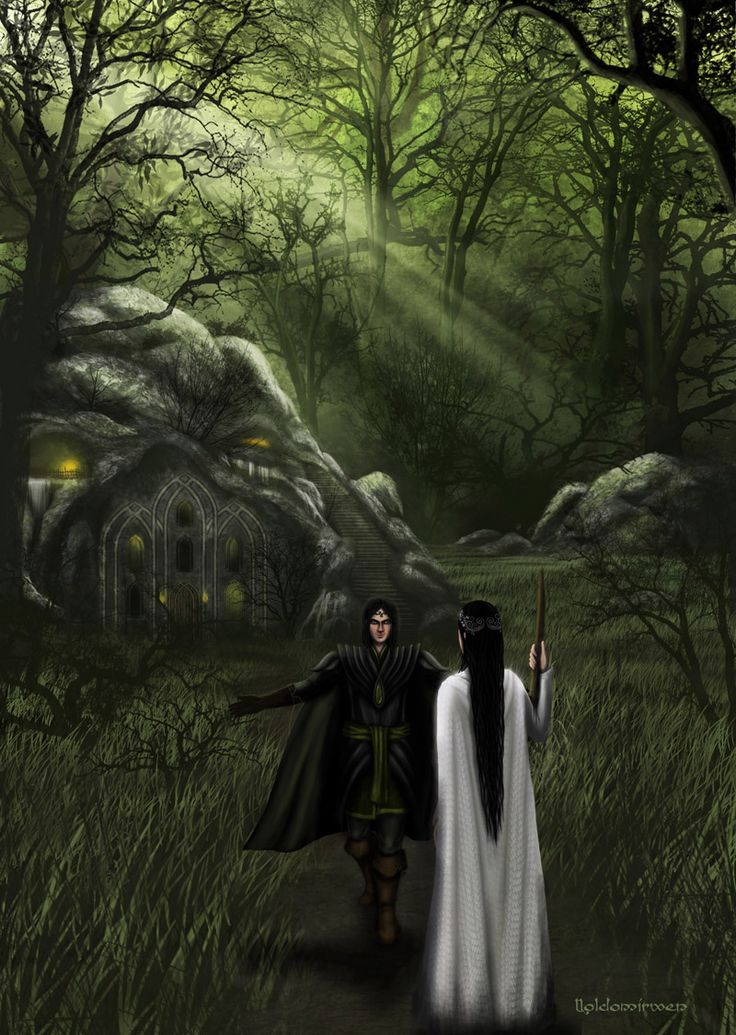 And when Aredhel, weary with wandering, came at last to his doors, he revealed himself and welcomed her, and led her into his house...and Aredhel bore Eol a son in the shadows of Nan Elmoth.