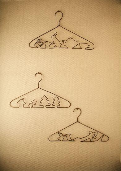 My story hangers.