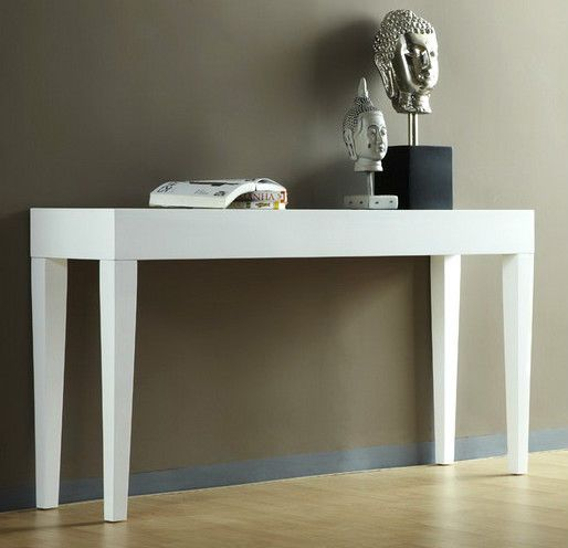 HALL TABLE STAND CONSOLE WHITE GLOSS 80cm CHIOSA BRAND