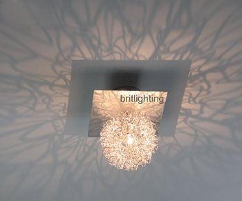 kleine gangpad plafondlamp leidde hal lamp kristal downlight led gang lamp opbouw lichten moderne plafondlamp in materiaal: polish chrome roestvrij steel+ aluminiumgrootte: l11*w11*h13cm bol diameter 100mm.( bij aankoop pls vertel me van Plafondverlichting op AliExpress.com | Alibaba Groep