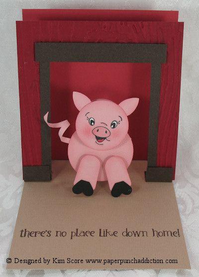 Paper Punch Addiction: Piggy Punch Art Showcase Card