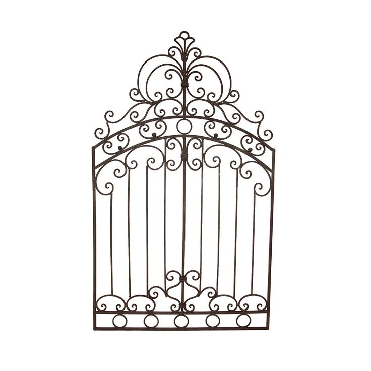 "Metal Gate Wall Art | Details about Tuscan Wrought Iron 50"" Garden Gate WALL GRILLE Grill"