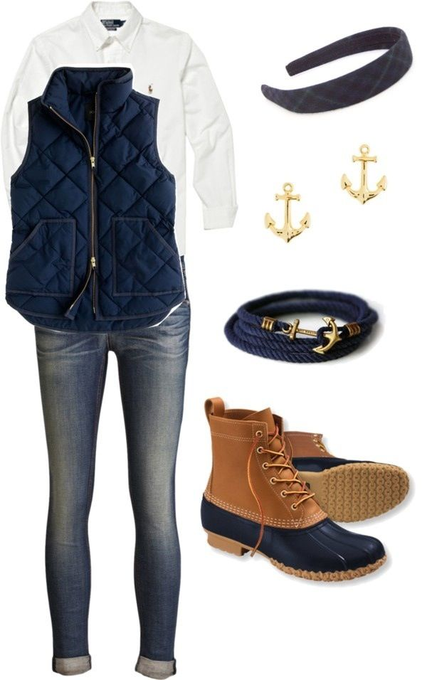 Great outfit for outdoors-except the white. I would wear a different color undershirt.