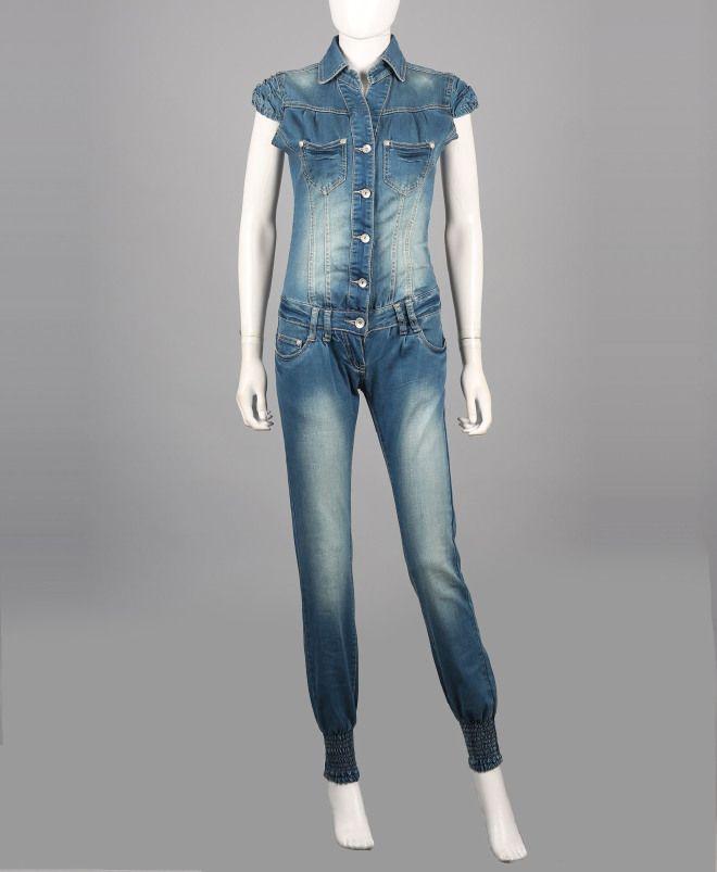 Tuta donna jeans B2B-PE14C20DJ8445