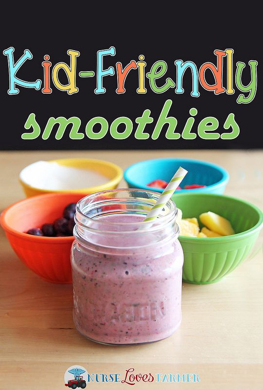 Kid-Friendly Smoothies. So simple to make and so easy to get a healthy ...