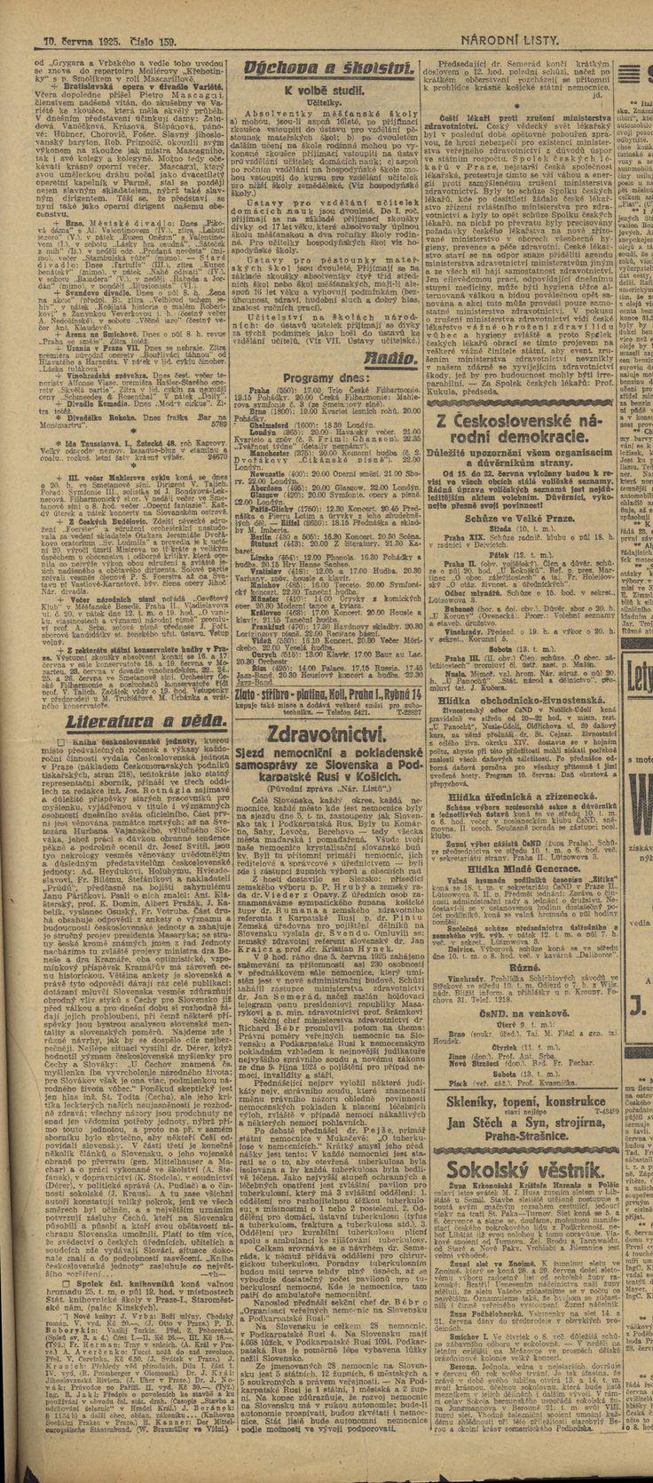 Národní listy, 10.6.1925