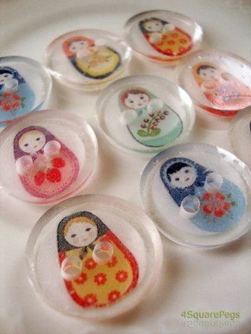 Russian Matryoshka Nesting Doll Buttons - want, want, want!!!!