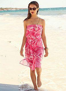 Pink Tie-Dyed Chiffon Dress