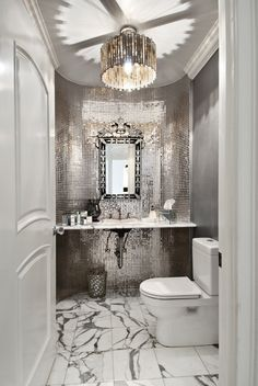 Photo Town Residential Real Estate Contemporary Bathroom Design By Seattle Build RW Anderson Homes Modern Powder Room