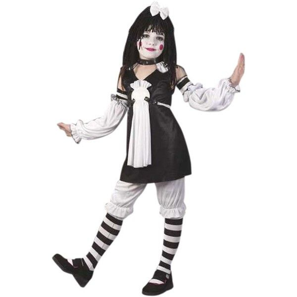 childs gothic rag doll costume