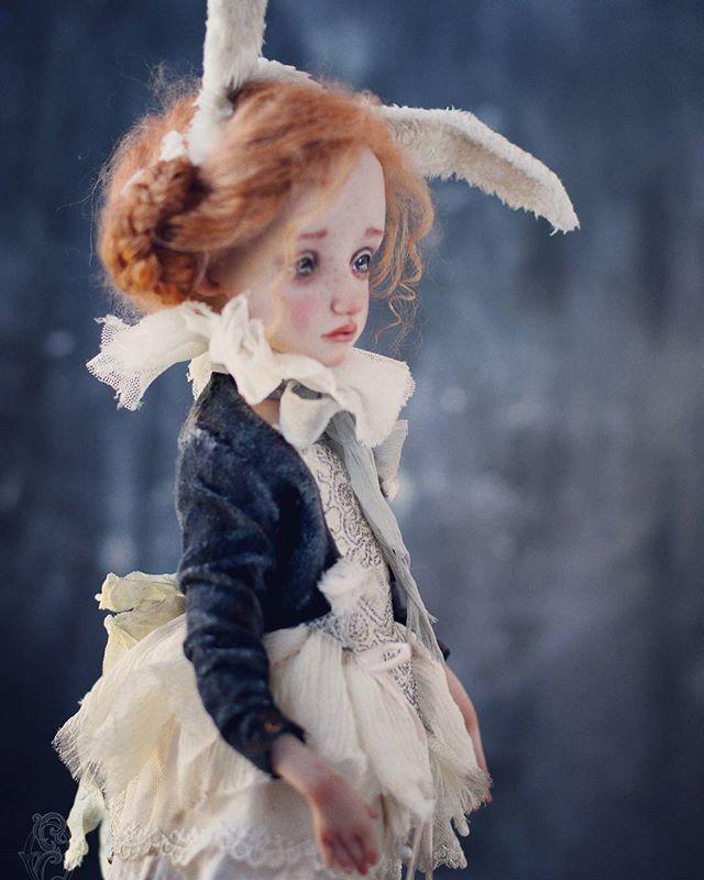 Зайки-малышки  Куклы в резерве. Photo by @elinasbears