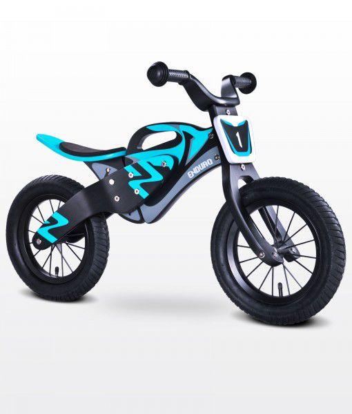 Bicicleta sin pedales de madera enduro toyz azul negro - La bici azul ...