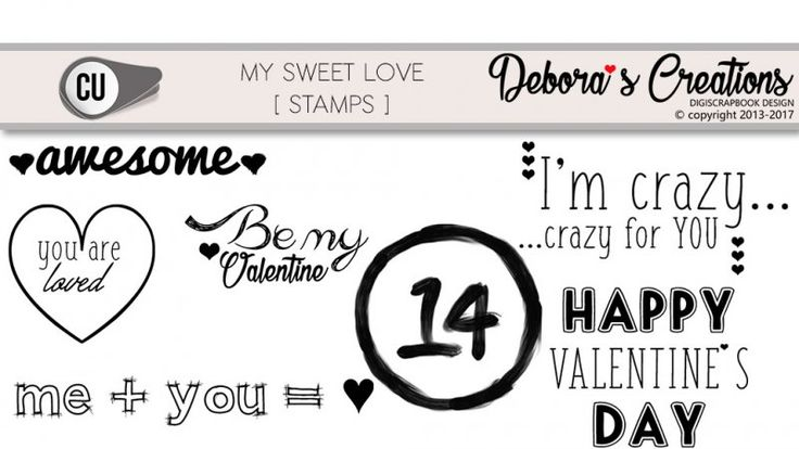 My sweet Love Stamps by Debora's Creations CU