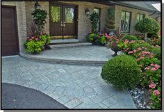 front door landscaping ideas | Interlocking driveways can last for years and years - if installed ...