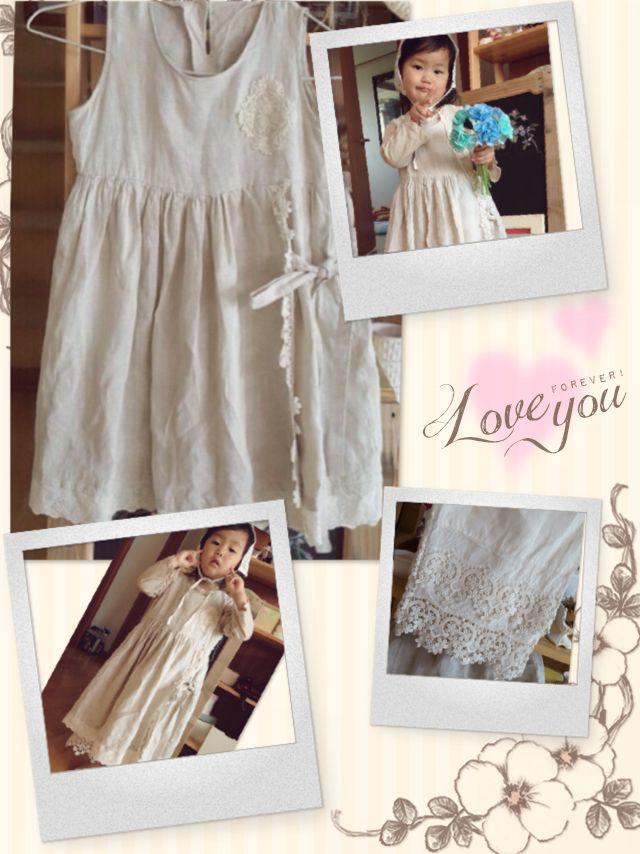 Linen dress for toddler..