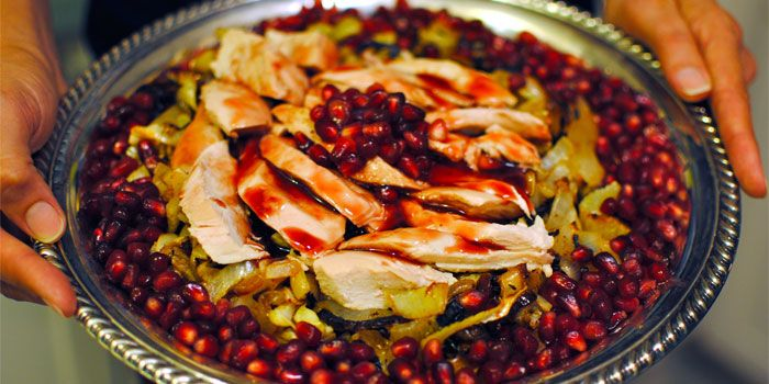 Roast Chicken with Pomegranate