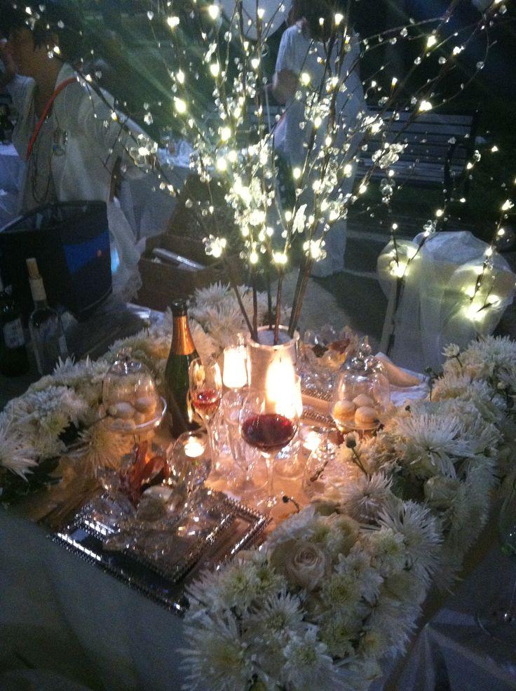 Table dîner blanc Paris, idée de déco?