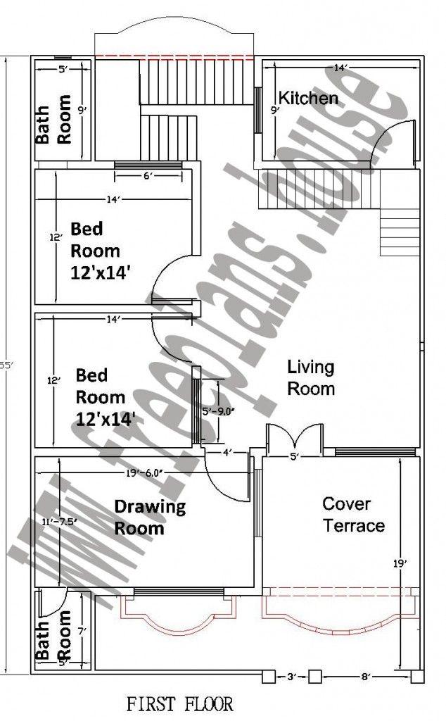 35x55 Feet House Plan Plans Pinterest Square Meter